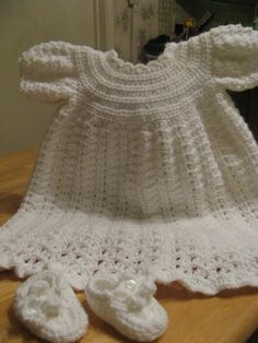 Crochet  Christening Gown -   Video 1 - this is so beautiful!  What a lovely gift.