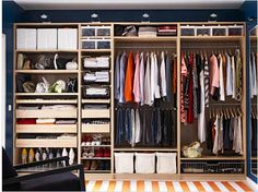 Idea for an older home with no closet space. Hmm..this would have to have doors built over it. OR NOT!