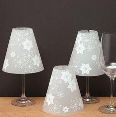 Lampenschirme - DIE STERNENHELENE - 3 Weinglas Lampenschirme - ein Designerstück…