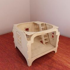 """A bonus level for """"Modular dollhouse"""". Plans for CNC router and laser cutting (1:12 scale). Dolls 4-8 inch (12-20cm). Vector projects."""