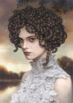 """""""Euryales Lament"""" por Tom Bagshaw. En la mitología griega Euryale fue una de las 3 hermanas Gorgonas"""