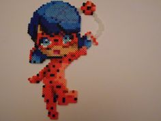 Miraculous Ladybug Perler Bead Art - Best DIY and Crafts 2019 Melty Bead Patterns, Pearler Bead Patterns, Perler Patterns, Beading Patterns, Peyote Patterns, Perler Bead Templates, Diy Perler Beads, Perler Bead Art, Pearl Beads Pattern