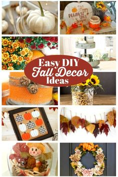 Tips For Just A Second Wedding Ceremony Anniversary Reward Easy Diy Fall Decor Ideas Beautiful Ways To Decorate Easily Autumn Crafts, Thanksgiving Crafts, Holiday Crafts, Home Crafts, Diy And Crafts, Autumn Activities, Fall Diy, Fall Home Decor, Craft Gifts