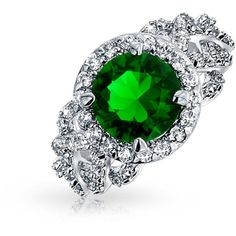 Bling Jewelry Simulated Emerald Pave Cut Cz Engagement Ring Rhodium... ($20) ❤ liked on Polyvore featuring jewelry, rings, green, heart wedding rings, antique wedding rings, heart shaped engagement rings, emerald wedding rings and antique engagement rings