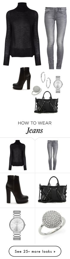 """""""Grey jeans - Casual"""" by brittjade on Polyvore featuring Forever 21, GUESS, Crippen, Rebecca Minkoff, Michael Kors, Dorothy Perkins and Marc by Marc Jacobs"""
