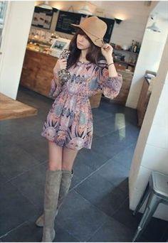 Bohemiam Chiffon Dress