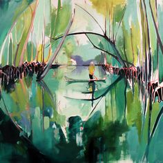 Saatchi Online Artist Charlotte Evans; Painting, Reflected (mangroves) SOLD #art