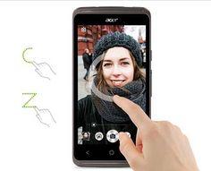 Comodidad superior en el control. Acer Liquid Z410, un teléfono móvil compacto con pantalla de 4,5 pulgadas y una resolución de 960 x 540 píxeles