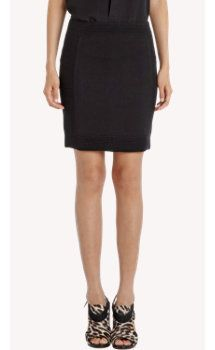 Barneys New York Ribbed Knit Paneled Mini Skirt