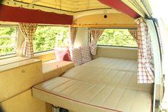 VW Camper Van Jack Interior Bed Down | Doles Farm Campers