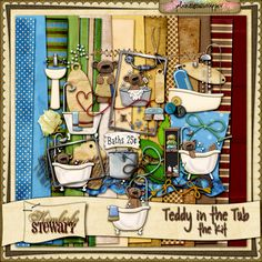 Teddy in the Tub - the Kit by Kimberly Stewart @Plaindigitalwrapper.com
