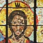 Very cool group art experienced, creating mosaic images by recycling magazines.