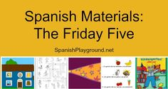 Spanish songs for kids: It is Friday, and that means time for five easy Spanish activities for kids. Includes a Spanish song about sound by Cantoalegre. The words are on the screen, so you can sing along. The pictures in the video support the meaning of the lyrics. #Spanish kids songs http://spanishplayground.net/spanish-materials-friday-five/