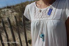 Collier diffuseur d'huiles essentielles aromathique perles tissées : Collier par couleur-grenadine33