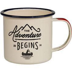 Dot & Bo Adventurer's Mug ($12) ❤ liked on Polyvore featuring home, kitchen & dining, drinkware, mugs, kitchen, cups and fillers