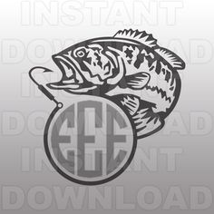 Fishing SVG File,Fish Hook Monogram SVG File,Bass SVG,Cutting Template Vector Clip Art for Commercial & Personal Use-Cricut,Cameo,Silhouette by sammo on Etsy https://www.etsy.com/listing/262403187/fishing-svg-filefish-hook-monogram-svg