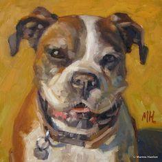 """Daisy"" - 8x8"" oil painting www.marniehanlon.com"