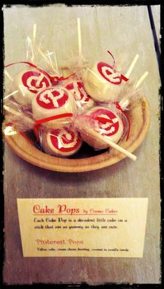 Pinterest Cake Pops- lets have a pinterest party where everybody executes one pin and we have these cake pops! who's in?
