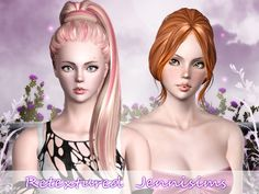ButterflySims 132 and 128 retextured by Jenni Sims for Sims 3 - Sims Hairs - http://simshairs.com/butterflysims-132-and-128-retextured-by-jenni-sims/