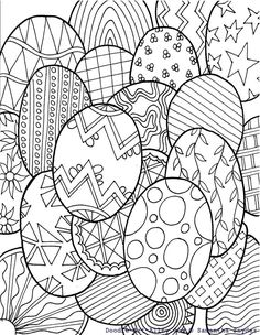 Free Printable Easter Egg and Bunny Coloring Pages