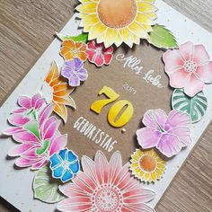 Create A Smile Stamps, Birthday Card, Flower Card, Cardmaking, Cards, Crafting