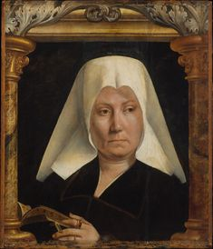 Portrait of a Woman  Quentin Metsys  (Netherlandish, Leuven 1466–1530 Kiel)  Date: ca. 1520 Medium: Oil on wood Dimensions: 19 x 17 in. (48.3 x 43.2 cm) Classification: Paintings Credit Line: The Friedsam Collection, Bequest of Michael Friedsam, 1931 Accession Number: 32.100.47