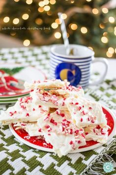 White Chocolate Christmas Peppermint Bark - WomansDay.com