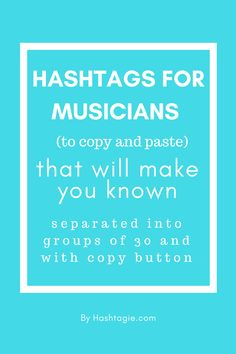 Hashtags for musicians (to copy and paste) that will make you known Best Instagram Hashtags, Cool Hashtags, Instagram Music, Followers Instagram, Instagram Ideas, Marketing Jobs, Social Media Marketing, Sell Music, Artist Management