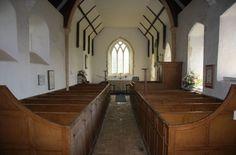 Inside Ramsholt Church,Suffolk.