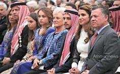 2014.  Princess Salma, Princess Iman, Princess Muna, Queen Rania.