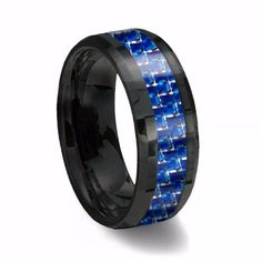 Now available on our store: Black Thin Blue &... Check it out here! http://www.sheridanpa.com/products/black-thin-blue-white-line-tungsten-ring?utm_campaign=social_autopilot&utm_source=pin&utm_medium=pin
