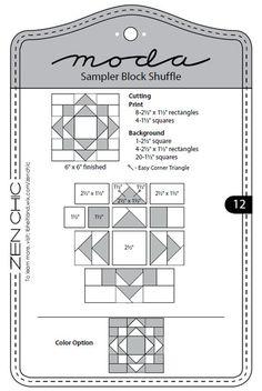 Moda Sampler Block Shuffle - Block 12