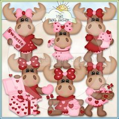 Molly Moose Valentines 1 - Exclusive Kristi W. Designs Clip Art