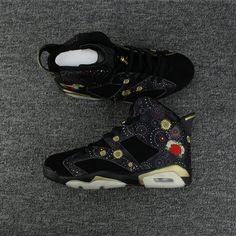 372b504bd8e678 2018 Cheap Priced Air Jordan 6 Retro Cny Chinese New Year Black Metallic  Gold-Multi