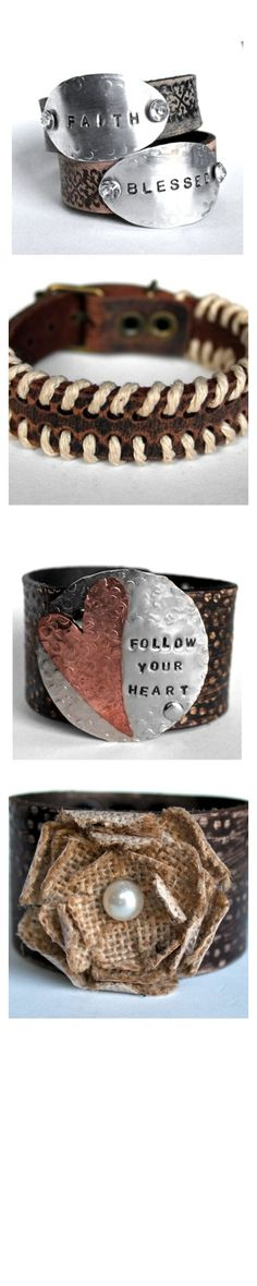 Loving these Jewelry Junkie cuffs. Have the stuff to make the metal ones...I must do this