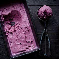 Roasted Blueberry Crème Fraîche Ice Cream