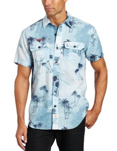 Nautica Men's Short Sleeve Allover Palm Print « Clothing Impulse