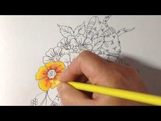 Coloring 'My bestie' part 2 - how to color flowers - prismacolor pencils…