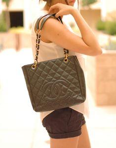 Gorgeous Bag Chanel PST Petite Shopping Tote Shoulder Bag!