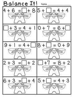 25 Best Math balance equations equal sign images