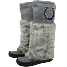 The Devotee Suede and Faux Fur Boots - Indianapolis Colts