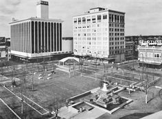Park Central Square in Springfield Missouri in the early 1970s.