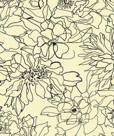 Floral Sketch textile print