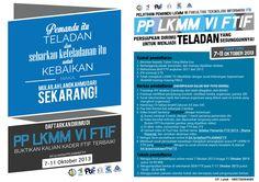 Poster buat PP LKMM VI FTIf :3