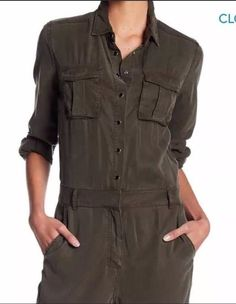 119d9aa8ee1 New!The Kooples khaki Trousers pocket jumpsuit Military Style Authentic!!  Medium