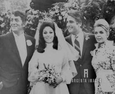 Dean Martin with wife Jeanne (R) - wedding of his daughter Gail to Paul Polina - ceremony was held in the Martin backyard in Bel Air, Cali - 1968
