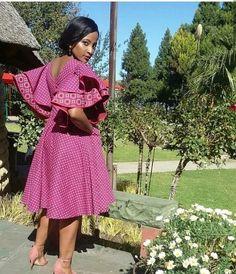 beautiful shweshwe dresses for black women - fashion ShweShwe 1 South African Dresses, African Dresses For Women, African Print Dresses, African Attire, African Wear, African Fashion Dresses, African Women, African Prints, African Clothes