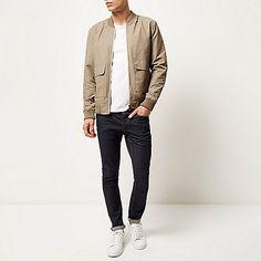 Stone beige bomber jacket - bomber jackets - coats / jackets - men