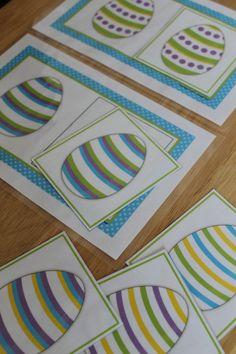 Easter egg matching for preschool, pre-k.