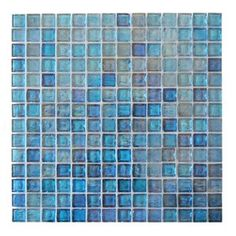 "LEED Amber 0.75"" x 0.75"" Glass Mosaic Tile in Royal Blue"